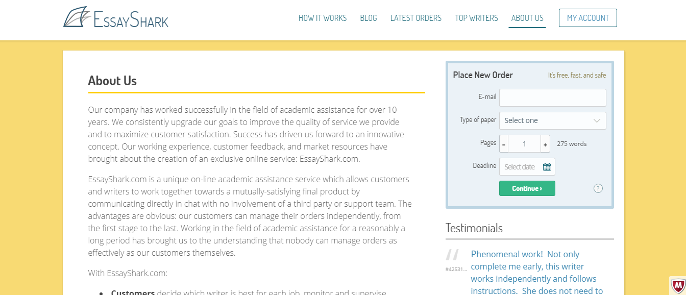 Academic writer site